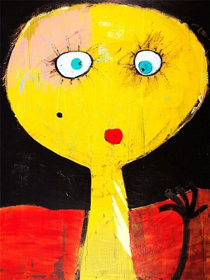 Laura Castellanos, Mosquita Muerta 2007, acrylic on canvas