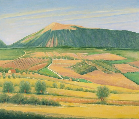 Ray Ciarrocchi, Fertile Valley - Montagna Dei Fiori 2010, oil on linen