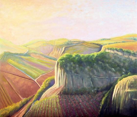 Ray Ciarrocchi, Italian Landscape - Evening 2009 - 2010, oil on linen