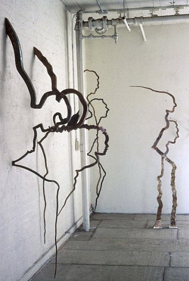Rosemarie Castoro, Sarcophagi 1994 - 1998, welded stainless steel