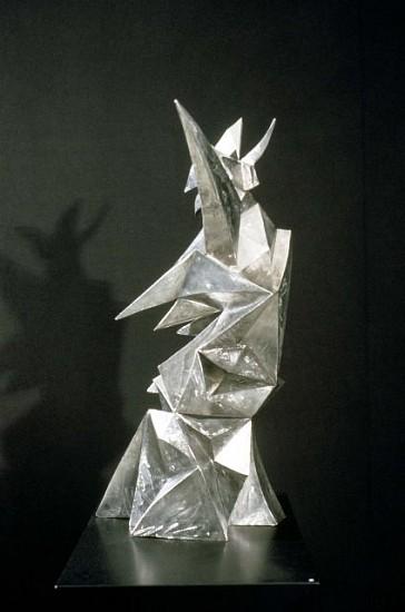 Rosemarie Castoro, Brunnhilde 1988, welded stainless steel