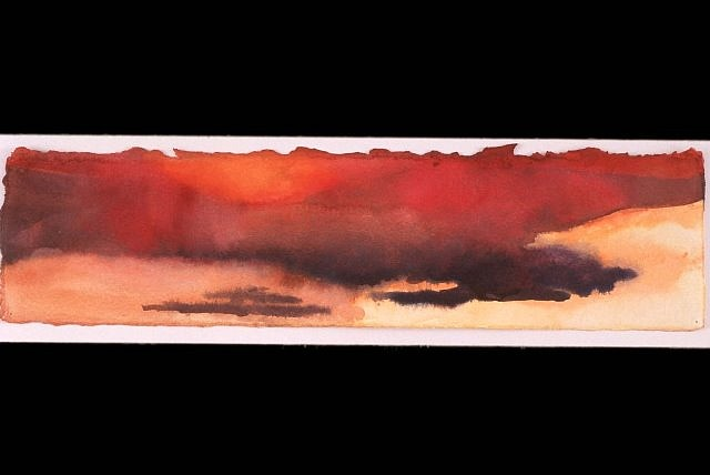 Janet Carlile, Canyonlands Sunset #1 2002, watercolor on paper