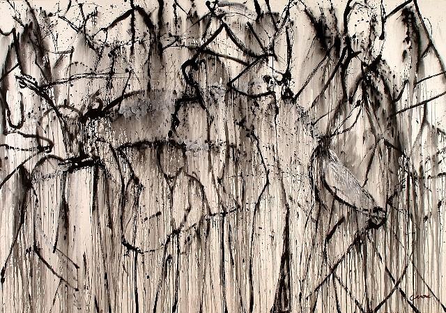 Nicolas Carone, Shadow Dance 2007, acrylic on canvas