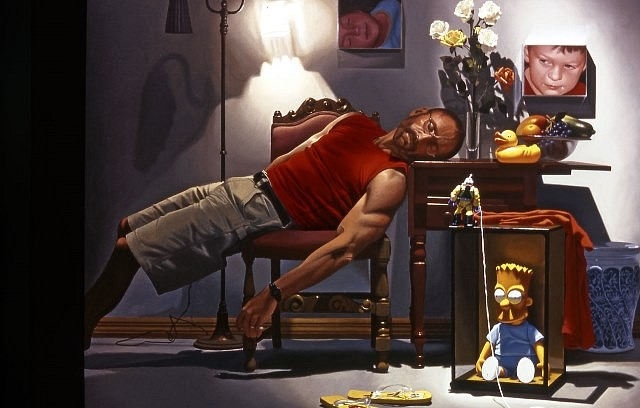 Tony Chimento, Self-Portrait- The Dream 2004, oil on canvas