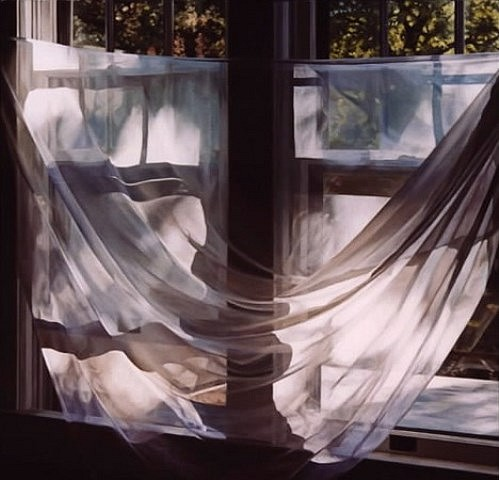 Rebecca Fagg, Curtain, Morning 2003, oil on linen