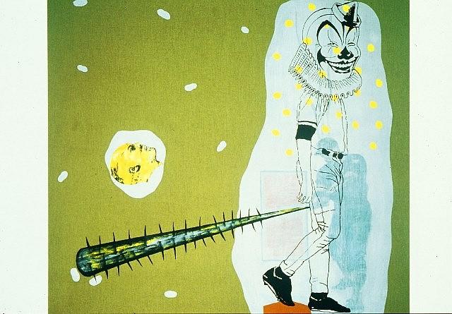 Demián Flores, Payaso 2004, oil on canvas