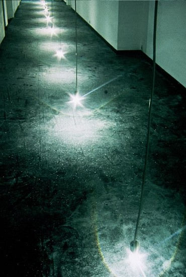 Ivana Franke, Floor (In collaboration with D.Ocko and S. Vujicic) 2005, textile, glass perls, light bulbs