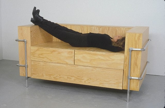 Barbara Gallucci, Couch 2004, plywood and aluminum