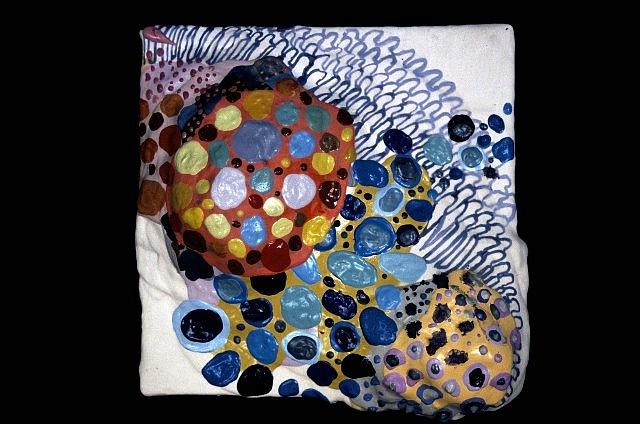 Linda Geary, Verbena Siena, Siena Series 2004, acrylic, mixed media on panel