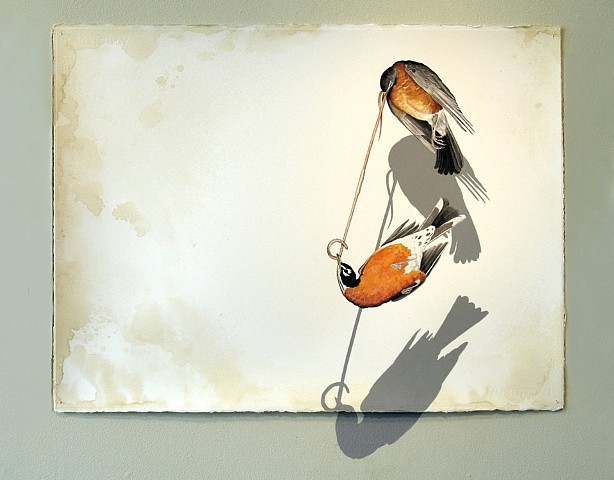 Justin Gibbens, Tango 2006, watercolor, acrylic, graphite, coffee on paper