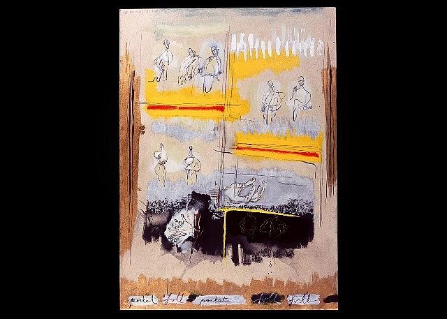Laurence Gomez, Full Pocket 2005, oil, oil stick, enamel, acrylic on canvas