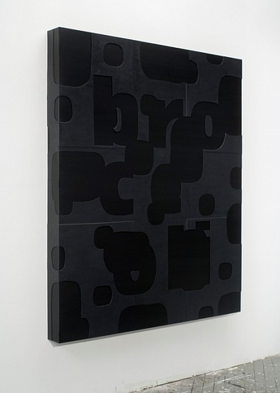 Guy Goodwin, Black Broccoli 2007, plexi glass, acrylic