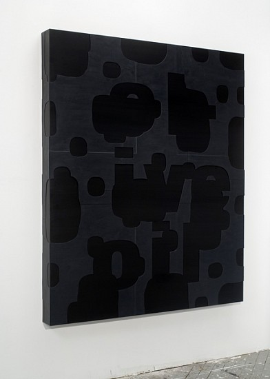 Guy Goodwin, Black Olive Oil 2007, plexi glass, acrylic