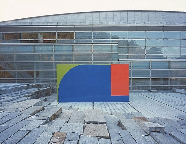 Richard Gorman, Big Blue 2002, acrylic resin on steel