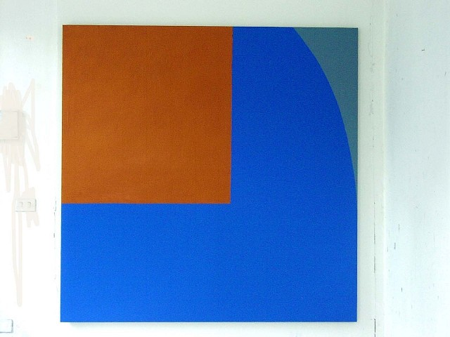 Richard Gorman, Held Orange 2004, oil on linen