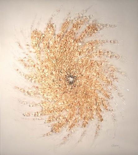 Brandon Graving, Roux 1 2007, glue, abaca paper, copper wire, taza, vellum