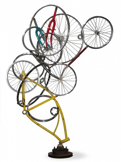 Mark Grieve, Composition No. 4 2008, discarded bicycles