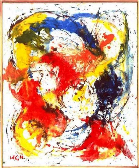 Hans Haagen, Space Change 2003, oil on canvas