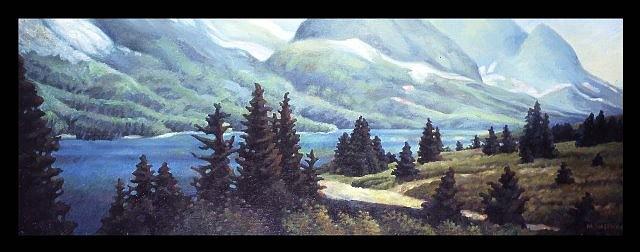 Matthew Hagemann, Wilderness Solitude 2006, oil on canvas