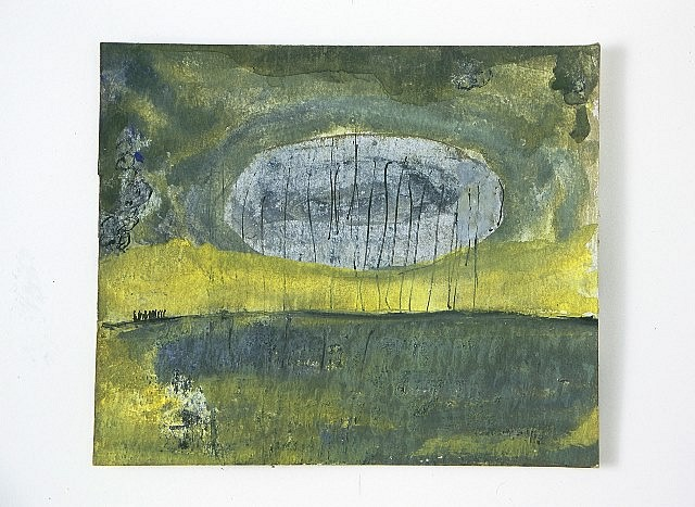 Patrick Hall, Green Earth and Sky 2005, watercolor and ink on paper