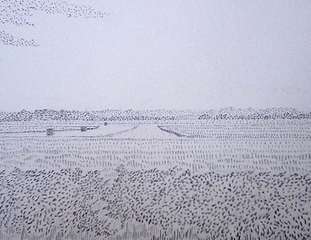 David Harker, Airfield I 2006, pencil on paper