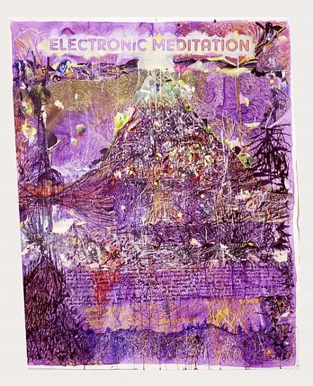 Arturo Herrera, Electronic Meditation 2007, acrilico, oleo, tinta, gouache sobre tela