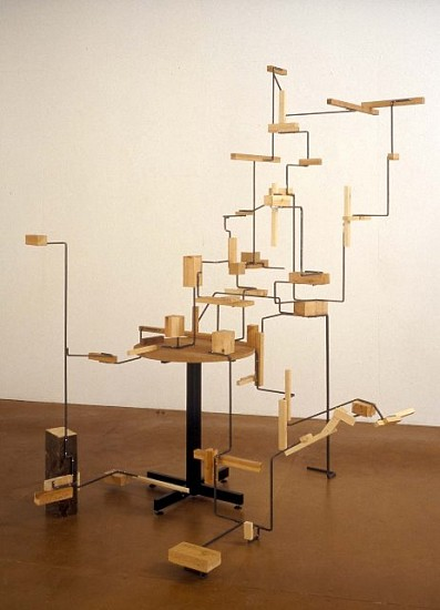 Charles Hewlings, In the Light 2001, wood, steel