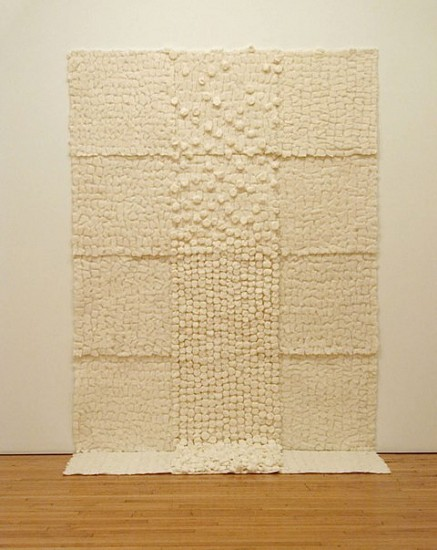 Robin Hill, Dissipation 2004, cotton-batting and paper
