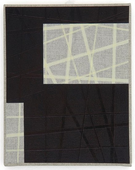 Herbert Hinteregger, Untitled (Canglass) 2008, ball-pen ink, grounding and tape on canvas
