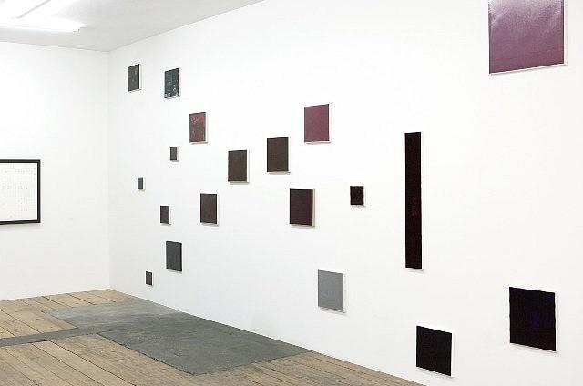 Herbert Hinteregger, Installation View 2008, ball-pen ink on canvas