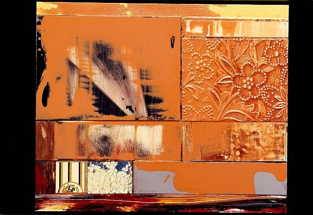 Sandria Hu, Red Clay/ Black Ash VII 2001, oil and mixed media