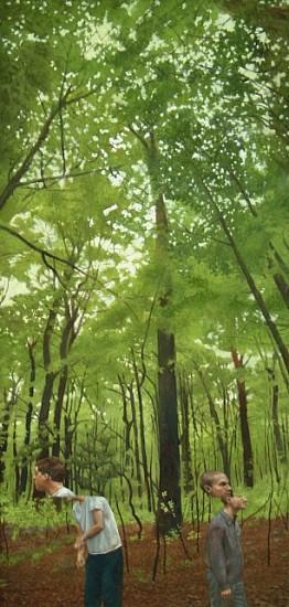 Simon Huelsbeck, Color Shift 2005, oil on panel