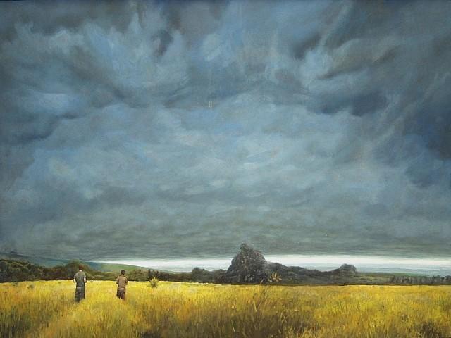 Simon Huelsbeck, White Horizon 2005, oil on panel