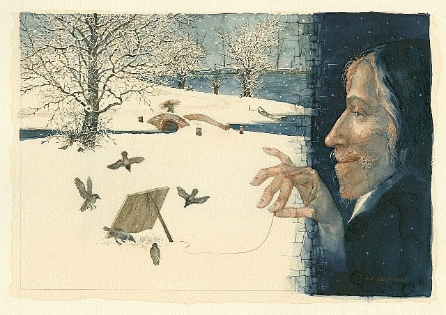 Konstantin Kalynovych, The Big Birdcatcher 2006, watercolor