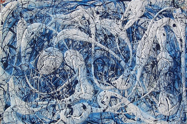 Robert Keay, Blue Rain 2010, acrylic on canvas