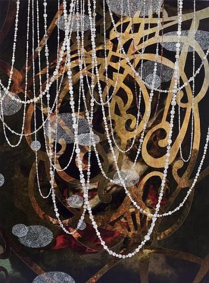 David King, Inside Stillness #3 2010, collage, ink