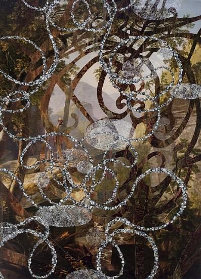 David King, Inside Stillness #4 2010, collage, ink