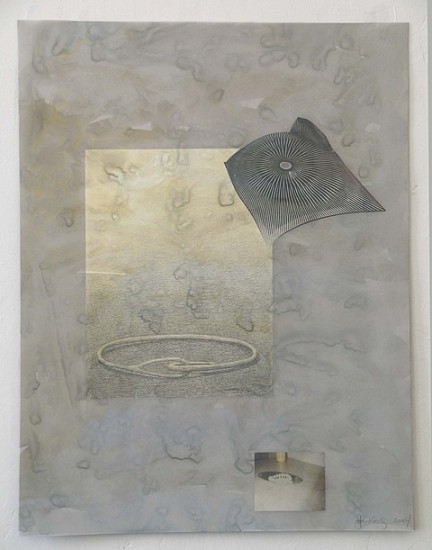 John King, Talisman 2004, watercolor, graphite on paper, photos on vellum