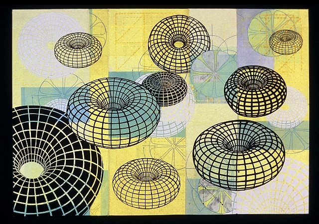 Amanda Knowles, Torus I 2005, mixed media on paper