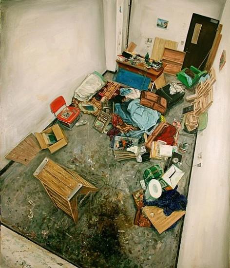 Amer Kobaslija, Janitor's Closet 2006, oil on panel