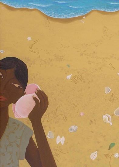 Kirti Chandak, Sharing Secrets 2004, oil on canvas