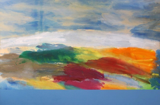 Ronnie Landfield, Evening Music 2004, acrylic on canvas