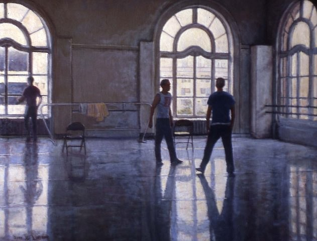 Dean Larson, Dance Rehearsal 2006-7, oil on canvas