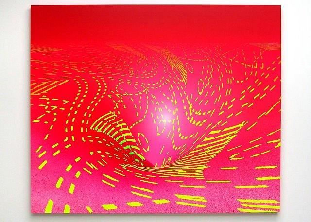 Dan Levenson, HK_1 2006, acrylic on birch panel