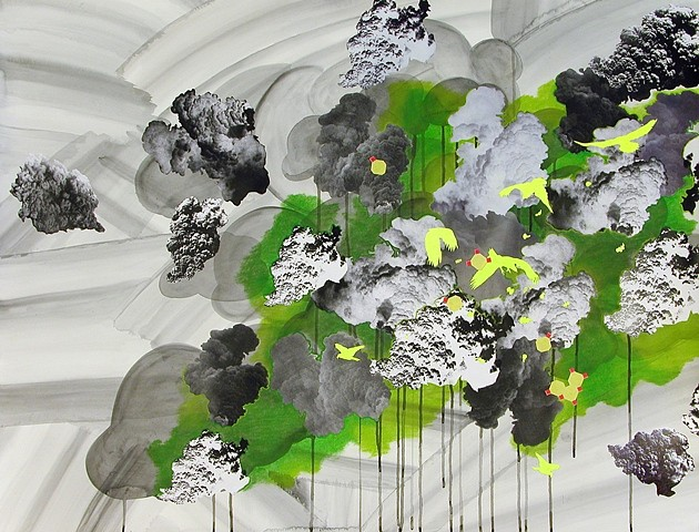 Andrea Loefke, Untitled (Weather Series) 2008, mixed media on paper