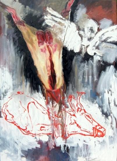 Alan Loehle, Mortal Deer 2009, oil on canvas
