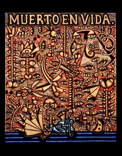 Carlos Luna, Muerto en Vida 2004, oil on canvas
