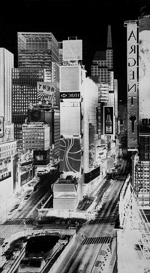 Vera Lutter, Times Square V, New York: July 31, 2007 2007, silver gelatin print