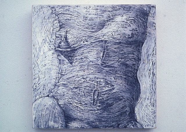 Susan Lyman, After Pandanus 2004, graphite, oil medium on wood panel