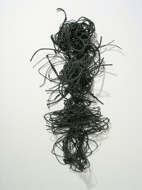 Creighton Michael, Rhapsody Wall Vertical 108 2008, graphite and paper coated rope